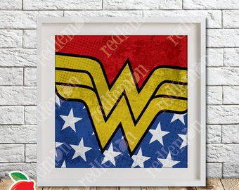 Wonder Woman Comic Book Superhero Icons Print