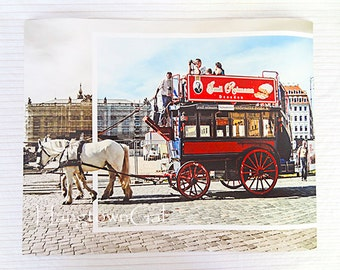 0184 - Art print on Fujicolor Crystal Archive Paper, photo taken in Dresden, Germany, German transport, German carriage,horse drawn carriage