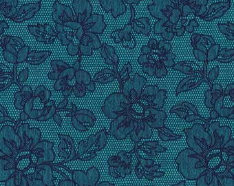 CX4595 Teal and by Michael Miller Half yard