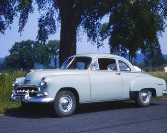 1951 Chevy Skyline car from original 35mm Kodachrome slide 1954