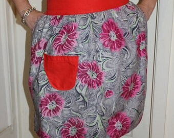 KLV Apron Sale! Eye Catching Floral 70s Retro Apron