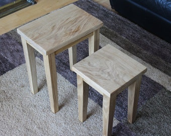 American Oak Nest of Tables