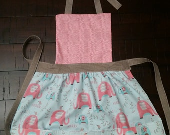 Kid's Art Apron (Elephants)