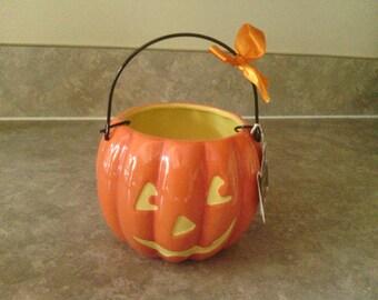 Nice Jack-O-Lantern Halloween Treat Basket, Hallmark.