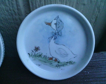 VTG Coasters with Duck Wearing a Blue Bonnet, Haynie.