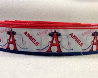 7/8 Los Angeles Angels Grosgrain Ribbon