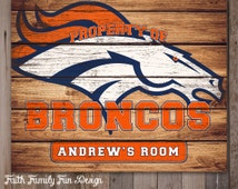 NFL Denver Broncos Team Sign Printable. Personalized! Man Cave. Teen Room. Office Art. Nursery Decor. Football Gift. Boys Room. 8x10/16x20