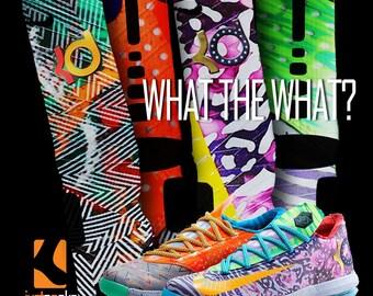 Custom Nike What the What Elite Socks
