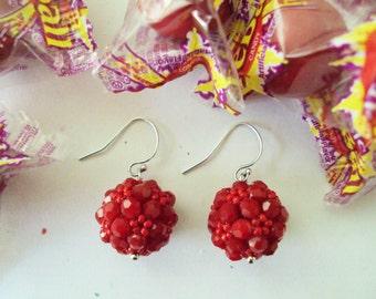 Bling Earrings - Red