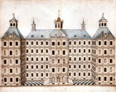 Elevation of Grand Palace anonymous architectural drawing Spain c1770-1800 AD2-30