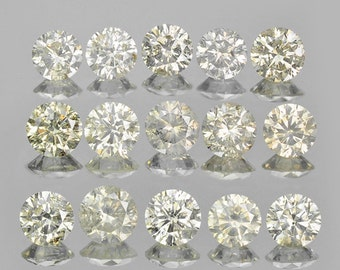 3.69 Cts/15 Pcs Lot - 3.8-4.2mm Rounds Untreated Light Champagne Diamonds