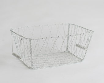 Newborn Prop White wire Basket