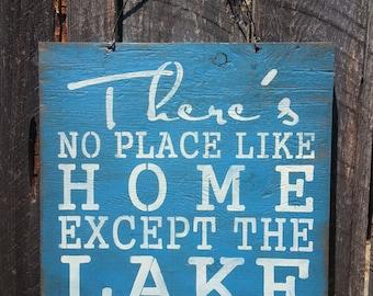 Lake Sign, lake house decor, lake house art, cabin sign, lake house, lake decoration, lake house signs, lake art, 123/93