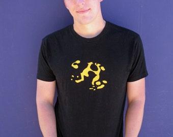 Banded Leucomelas Dart frog black t shirt