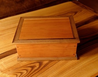 Cherry and Walnut Storage Box