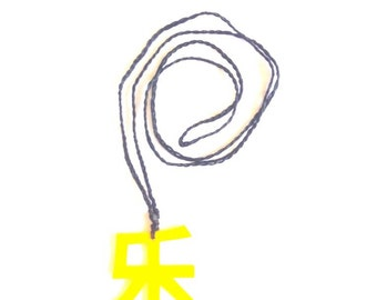 Chinese character necklace