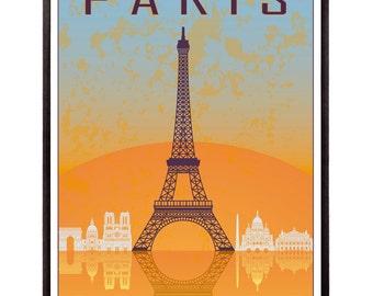 Paris vintage style poster - SKU 0924