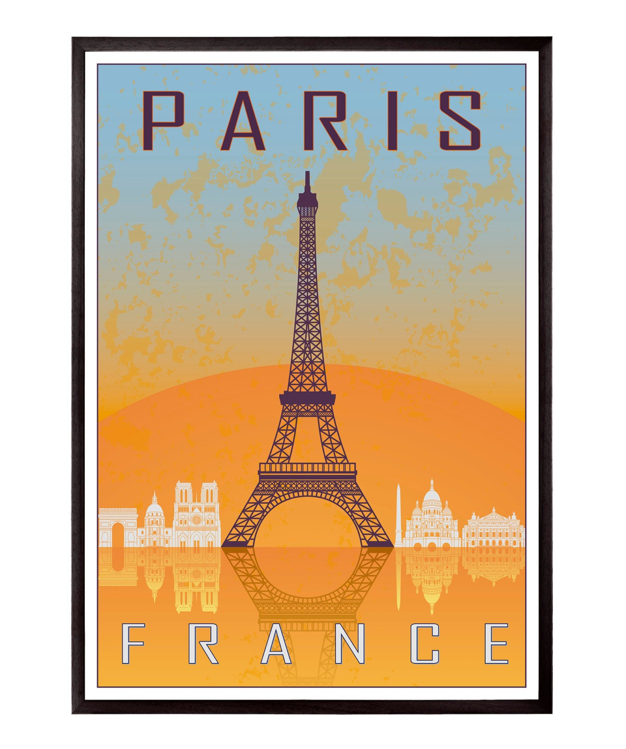 paris vintage style poster sku 0924. Black Bedroom Furniture Sets. Home Design Ideas