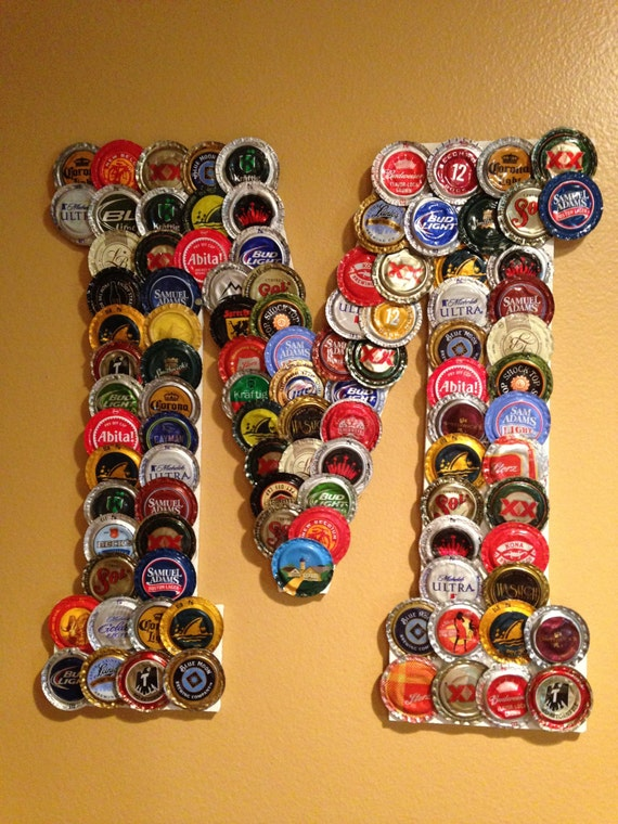Bottle cap letters by studiosjm on etsy for How to use bottle caps