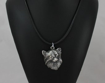 Chihuahua (longhaired), dog necklace, limited edition, ArtDog