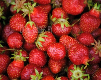 For the Love of Strawberries, Strawberry love, Strawberry, Garden, Berries, Red Ripe Strawberry, Digital Image