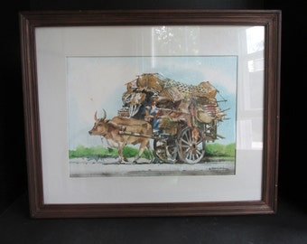 Watercolor by Filipino artist Alwinder Sarmiento titled Caravan