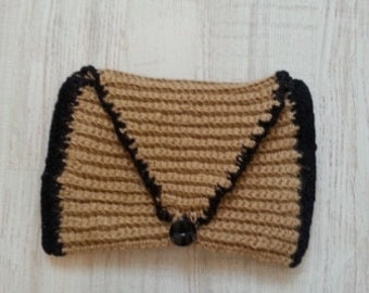 Knitted Clutch bag, Handmade Small Bag, Sport Clutch bag, everyday clutch bag, crochet clutch bag, Twine Bag, Modern Clutch bag