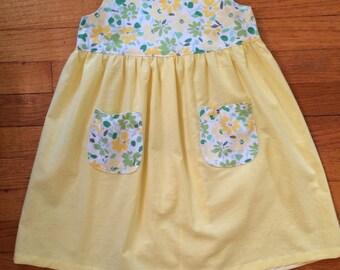 100% cotton girls dress - size 4