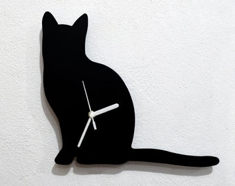 Cat Silhouette - Wall Clock