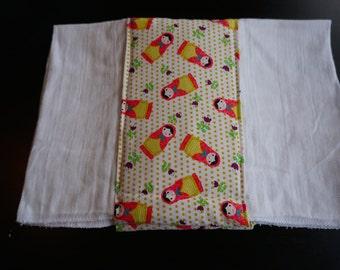 Nesting Dolls Burp Cloth