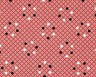 Denyse Schmidt Florence Dot Plaid in Carnelian - One Yard