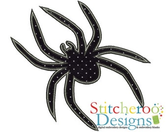 Spider applique Design -In Hoop sizes 4x4, 5x7, 9x9- Instant Download - for Embroidery Machines