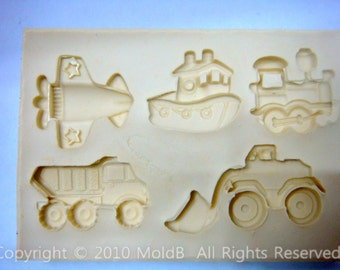 Silicone molds,Sugarcraft Molds, Polymer Clay,Soap Molds, Cake Decorating Tools,Cute Transport