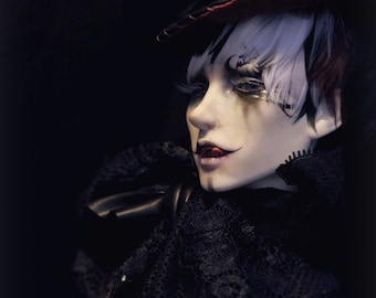 Homemade vampire BJD male head, Edition 2, with 4 free parts, classic bjd collection