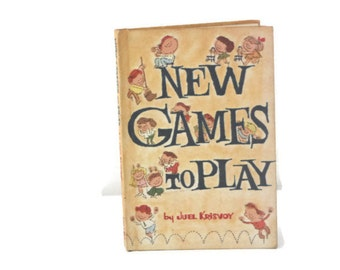 Vintage Games to Play Book, Children's Activities, Childrens Imagination Book, Rainy Day Book, Indoor Games, Activity Book