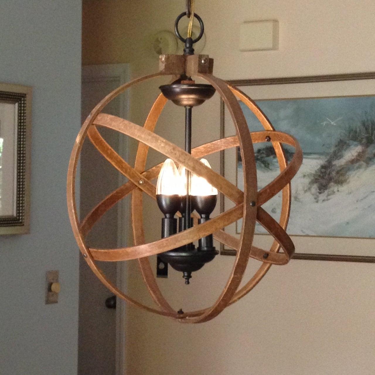 Hanging Light Fixture: ORB CHANDELIER LIGHT 14 Atomic Light Fixture Industrial