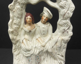 C. 1860 Staffordshire Figurine of Robert Burns and His Sweetheart