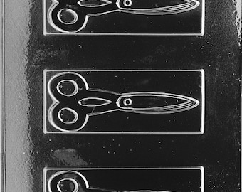 Scissors Jobs Chocolate Candy Mold with Exclusive FlavorTools Copyrighted Chocolate Molding Instructions J002