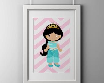 Jasmine wall art print, 8x10 inch print, shipped to your door