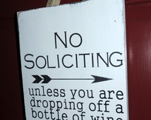 Unique No Soliciting Sign Related Items Etsy