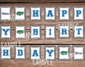 Florida Gators Football Happy Birthday Banner