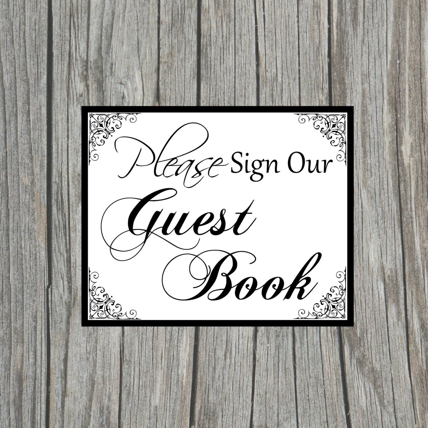 It is a photo of Epic Please Sign Our Guestbook Free Printable