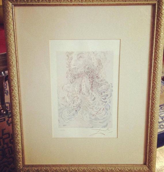 Custom Framed Salvador Dali Limited Edition Lithograph