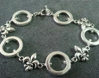 Fleur de Lis and ring bracelet