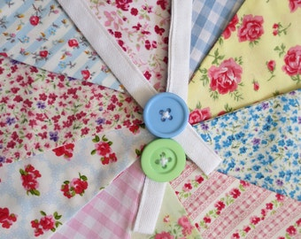Floral Bunting - Double sided. Perfect for weddings, parties or decoration