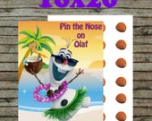 Pin the Nose on Olaf Instant download Frozen party Game