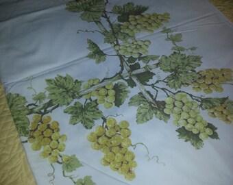 SALE-Tuscan grape tablecloth.