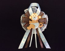 Baby Boy Safari Jungle Monkey Guest Corsage Capia Baby Pin Baby Shower Favors
