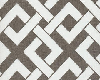 Boxed In Brindle Gray Taupe Indoor Outdoor contemporary Fabric