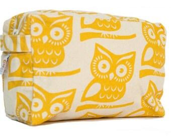 Yellow Owl Cosmetic Bag